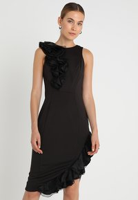 Coast - WOW CORSAGE MONO SHIFT - Shift dress - black - 0