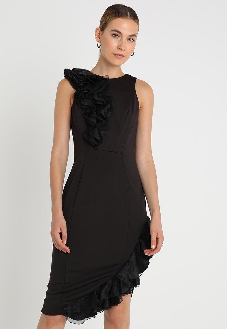 Coast - WOW CORSAGE MONO SHIFT - Shift dress - black