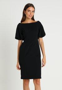 Coast - SHAILENE PUFF SLEEVE SHIFT DRESS - Shift dress - black - 0