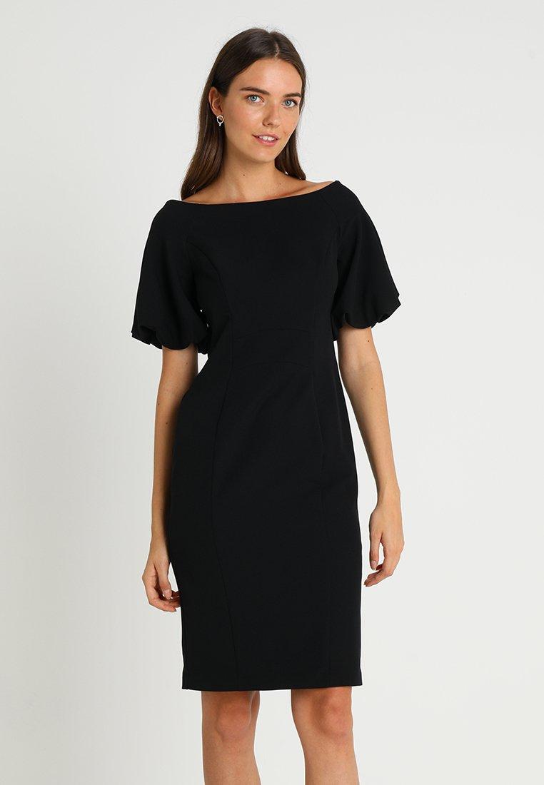 Coast - SHAILENE PUFF SLEEVE SHIFT DRESS - Shift dress - black