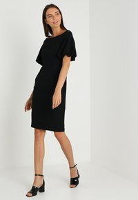 Coast - SHAILENE PUFF SLEEVE SHIFT DRESS - Shift dress - black - 2