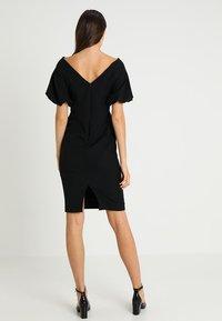 Coast - SHAILENE PUFF SLEEVE SHIFT DRESS - Shift dress - black - 3