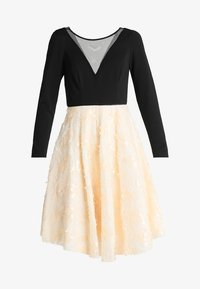 Coast - KATERINA FIT AND FLARE SEQUIN DRESS - Jersey dress - black - 4
