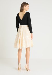 Coast - KATERINA FIT AND FLARE SEQUIN DRESS - Jersey dress - black - 2