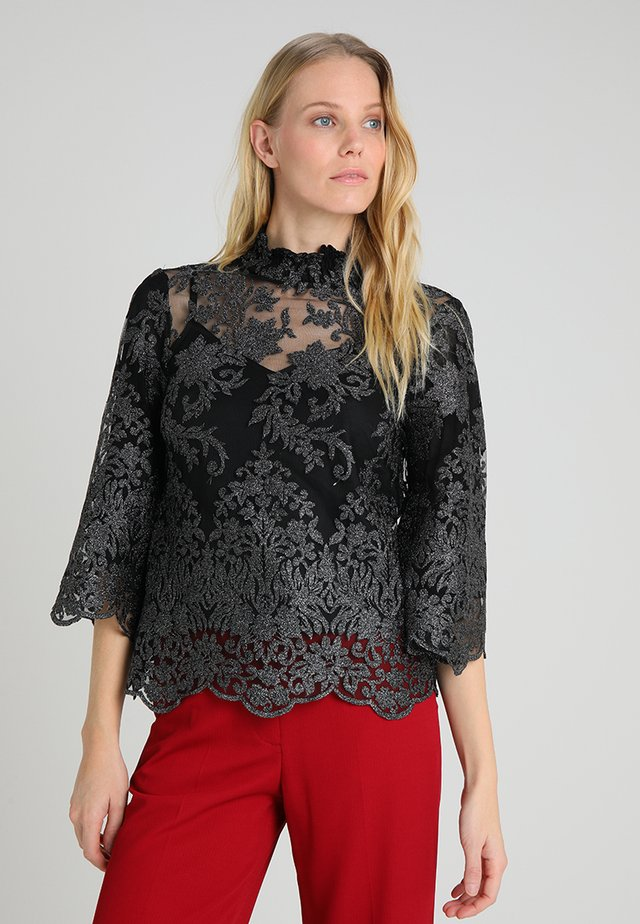 ARIA 3/4 SLEEVE - Blouse - black