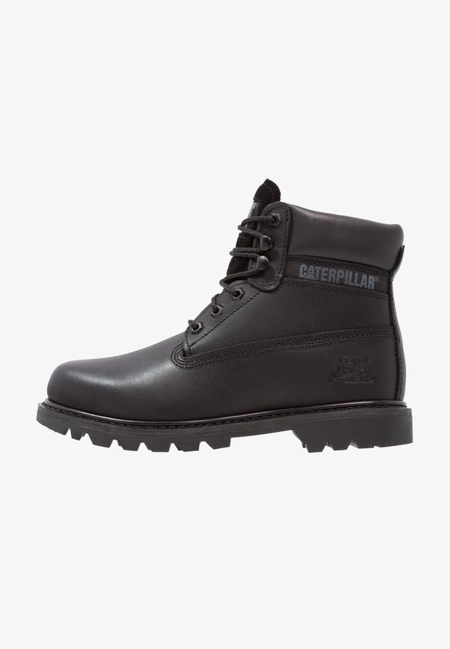COLORADO - Bottines à lacets - all black