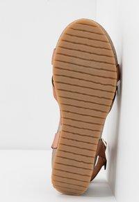 Ca'Shott - Sandály na platformě - cognac - 6