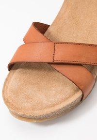 Ca'Shott - Sandály na platformě - cognac - 2