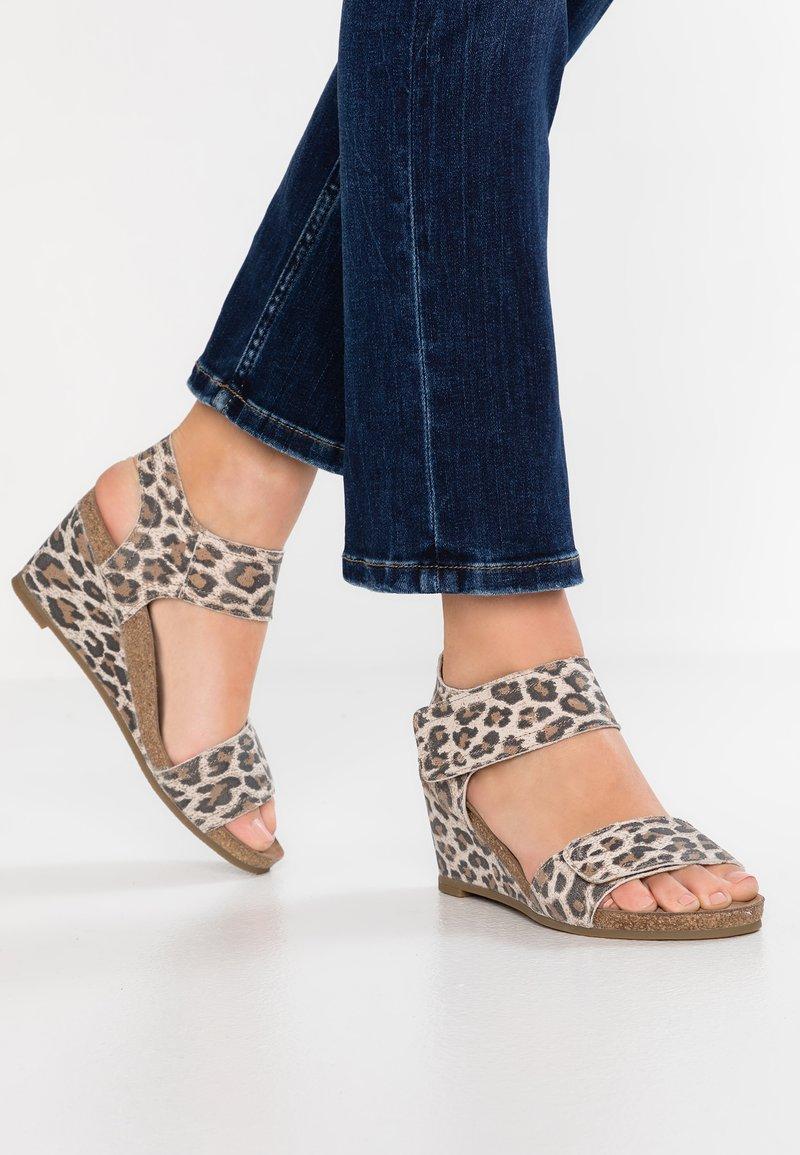 Ca'Shott - Wedge sandals - beige