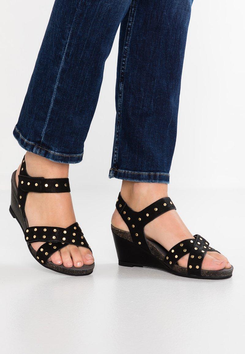 Ca'Shott - Wedge sandals - bandolero black