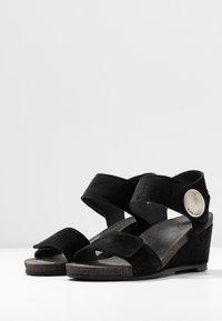 Ca'Shott - Sandály na klínu - black - 4