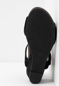 Ca'Shott - Sandály na klínu - black - 6