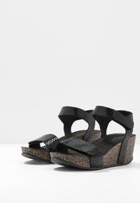 Ca'Shott - Sandály na platformě - thelma black - 4
