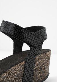 Ca'Shott - Sandály na platformě - thelma black - 2