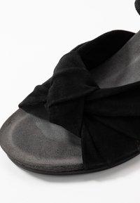 Ca'Shott - Sandály na klínu - black - 2