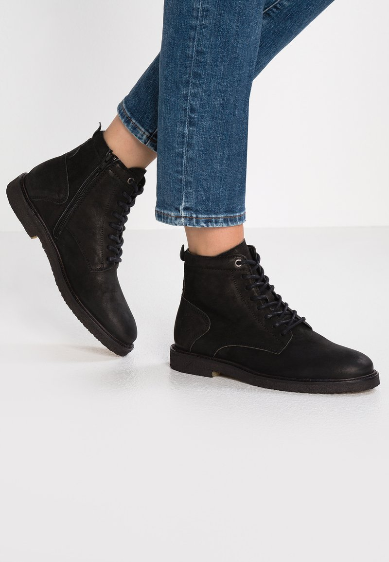 Ca'Shott - Lace-up ankle boots - bandolero black