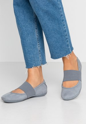 RIGHT NINA - Ankle strap ballet pumps - medium grey