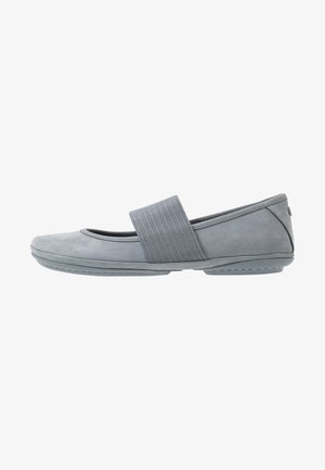 RIGHT NINA - Ankle strap ballet pumps - medium grey