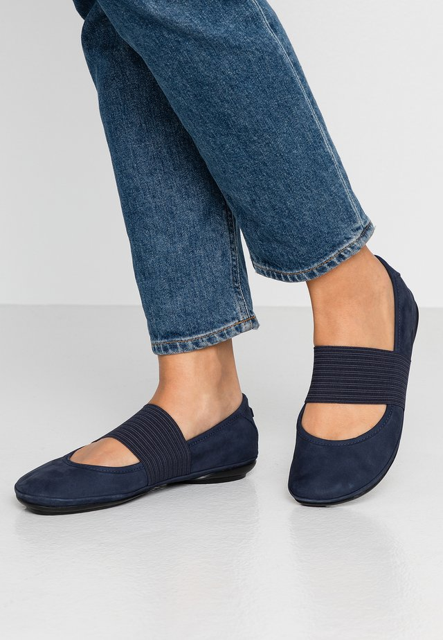RIGHT NINA - Ankle strap ballet pumps - navy