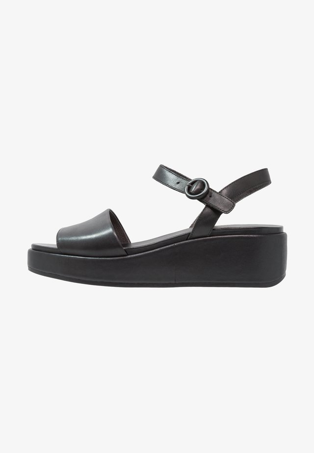 MISIA - Sandalias con plataforma - black