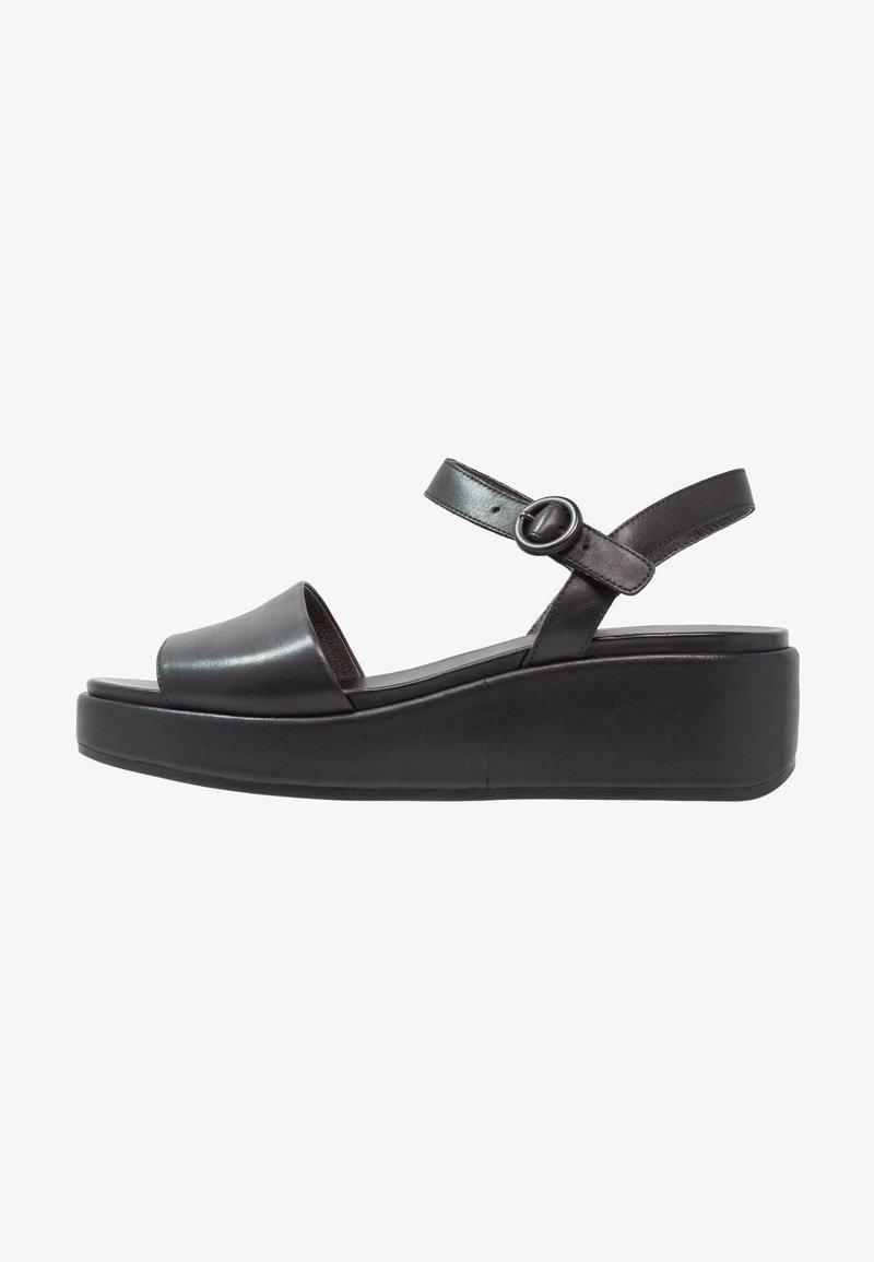 Camper - MISIA - Sandalen met plateauzool - black