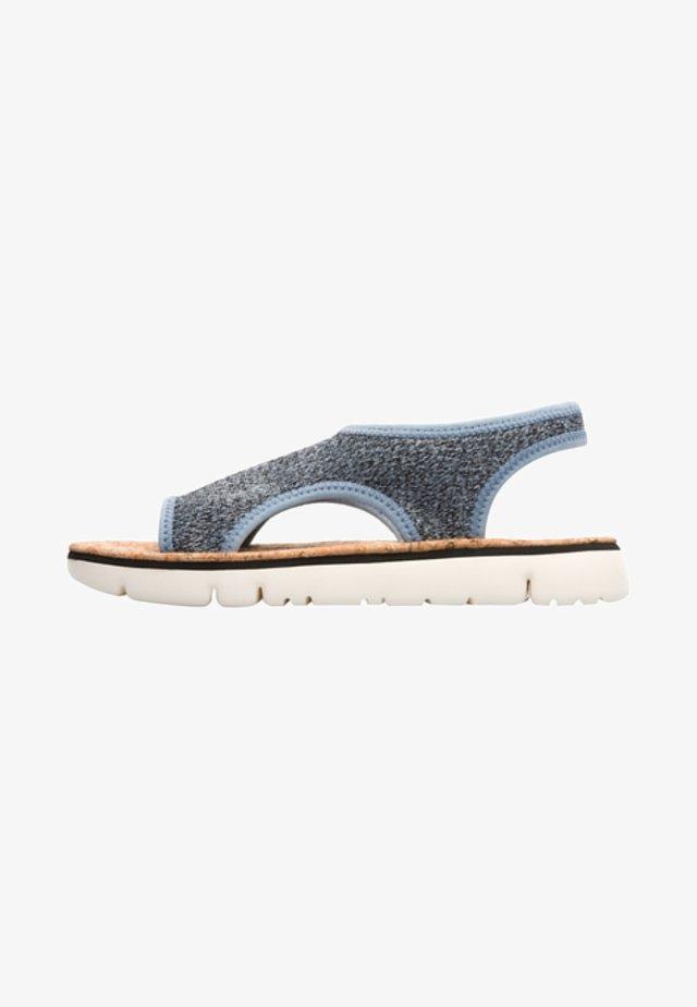 ORUGA - Sandalias - blue-grey/beige