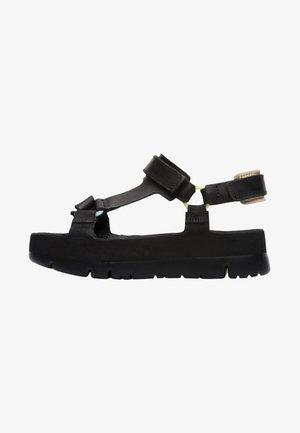 ORUGA UP - Platform sandals - black