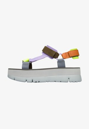 Sandalen met plateauzool - orange