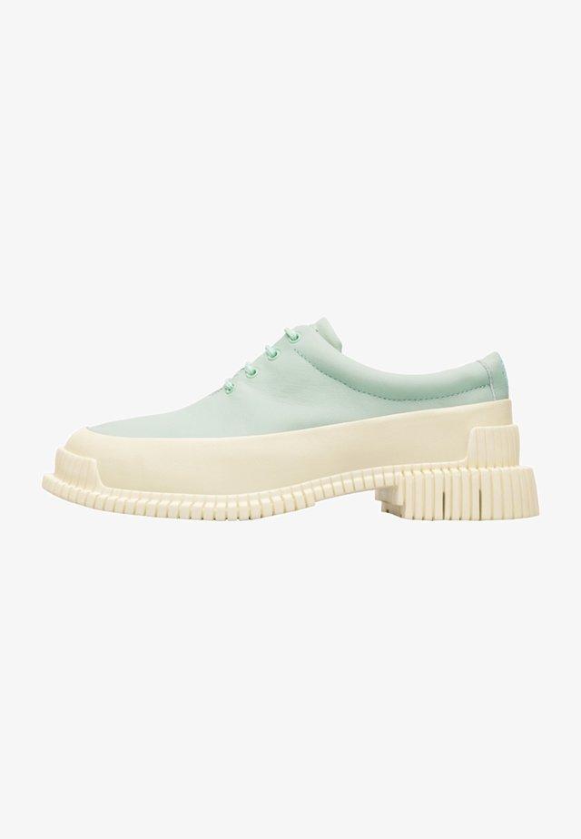 PIX - Zapatos con cordones - turquoise, white