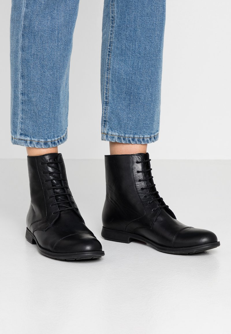 Camper - Lace-up ankle boots - black
