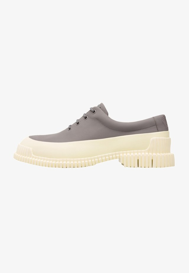 PIX - Zapatos con cordones - light grey, white