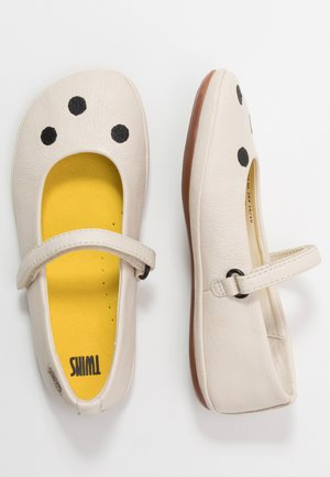RIGHT KIDS TWINS - Ankle strap ballet pumps - light beige