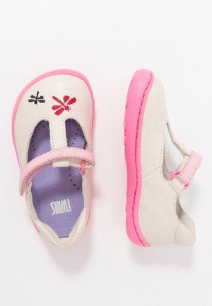 PEU CAMI TWINS - Ankle strap ballet pumps - light beige