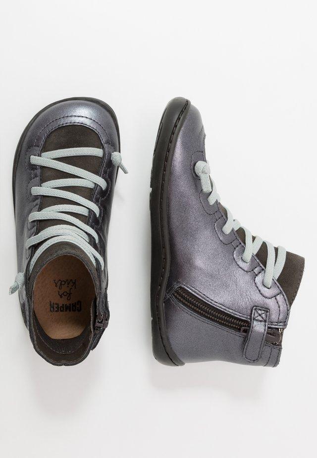 PEU CAMI KIDS - Botines con cordones - dark gray