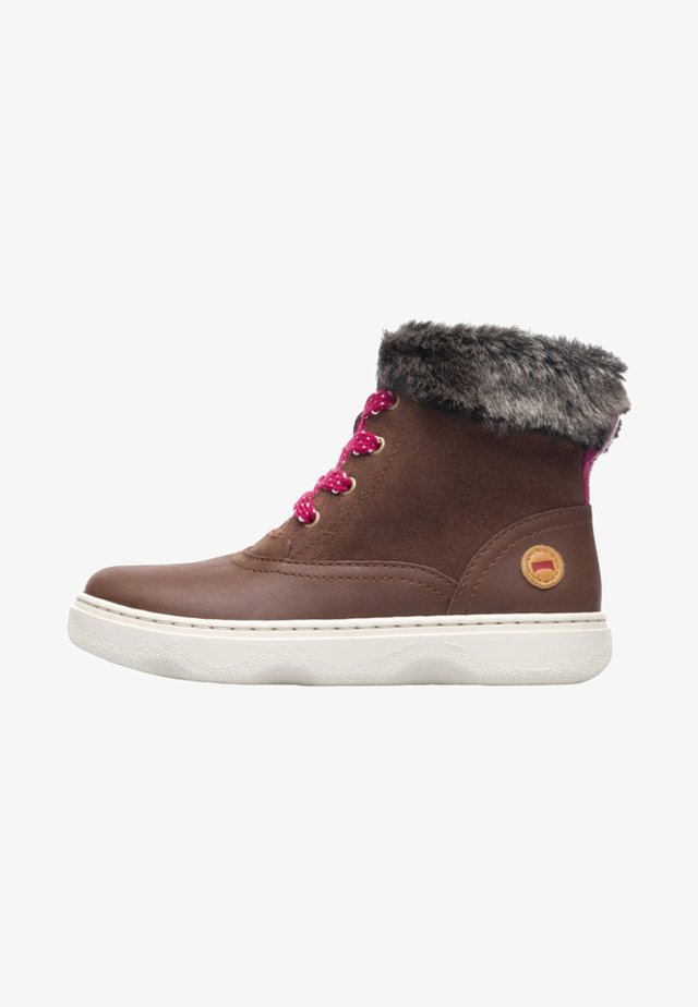 KIDDO - Botines con cordones - brown