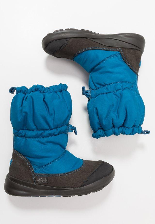 ERGO KIDS - Botas para la nieve - blue/grey