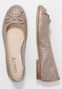 Caprice - Ballet pumps - taupe metallic - 3