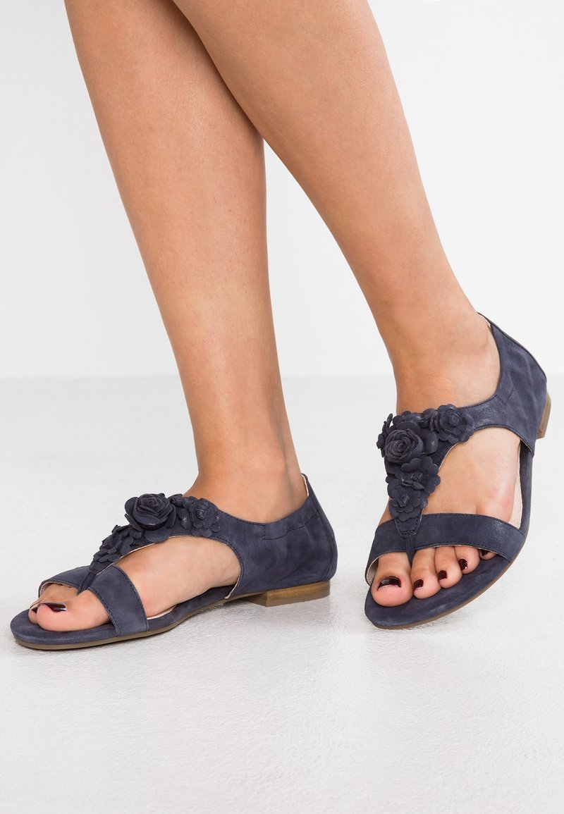 Caprice - T-bar sandals - navy