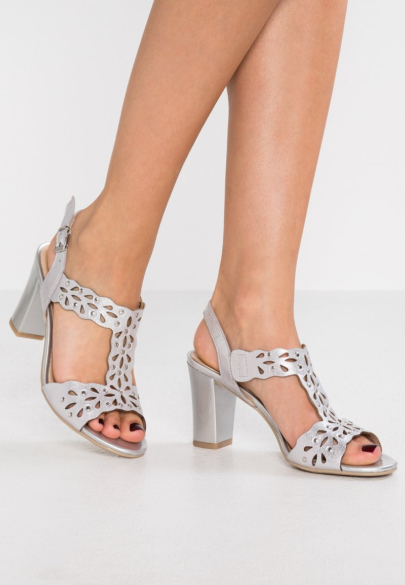 Caprice - High heeled sandals - silver metallic