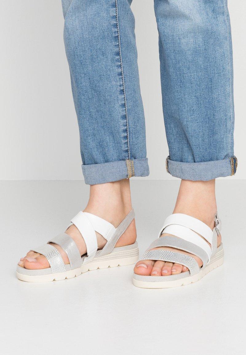 Caprice - Platform sandals - silver