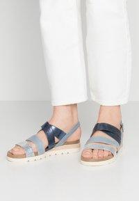 Caprice - Platform sandals - blue - 0