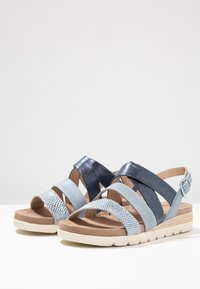 Caprice - Platform sandals - blue - 4