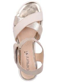 Caprice - Wedge sandals - beige - 1