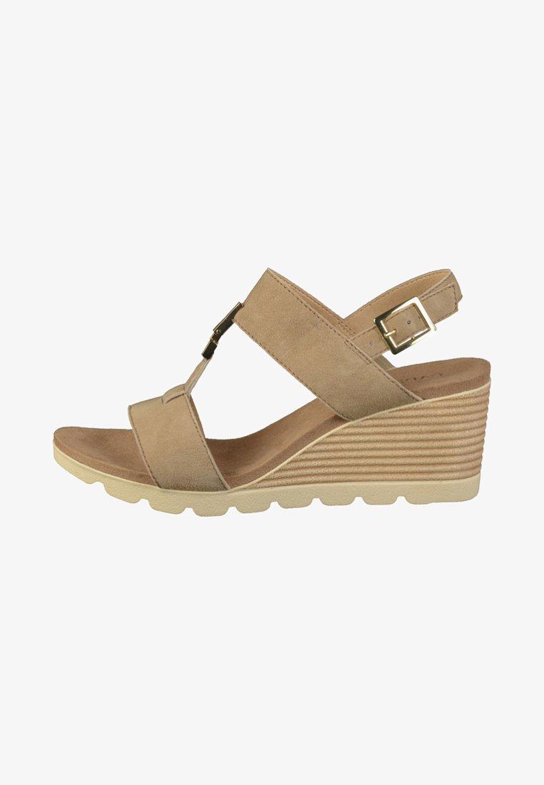 Caprice - Wedge sandals - stone