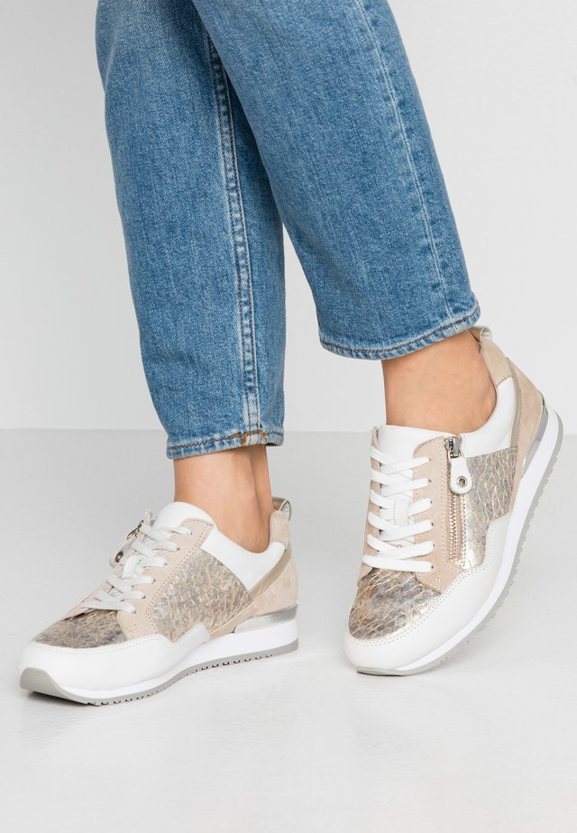 Sneakers laag - light gold/white