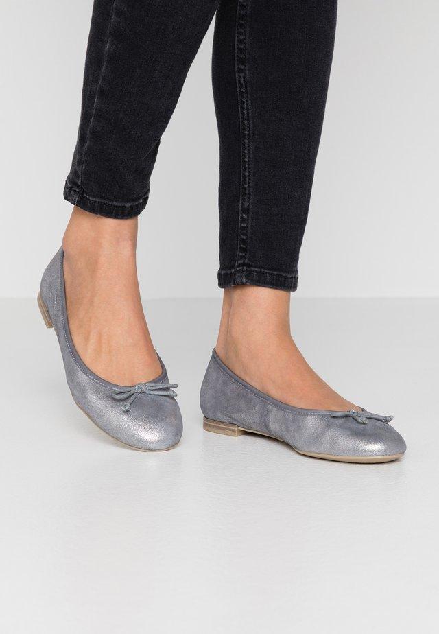 Baleriny - silver metallic