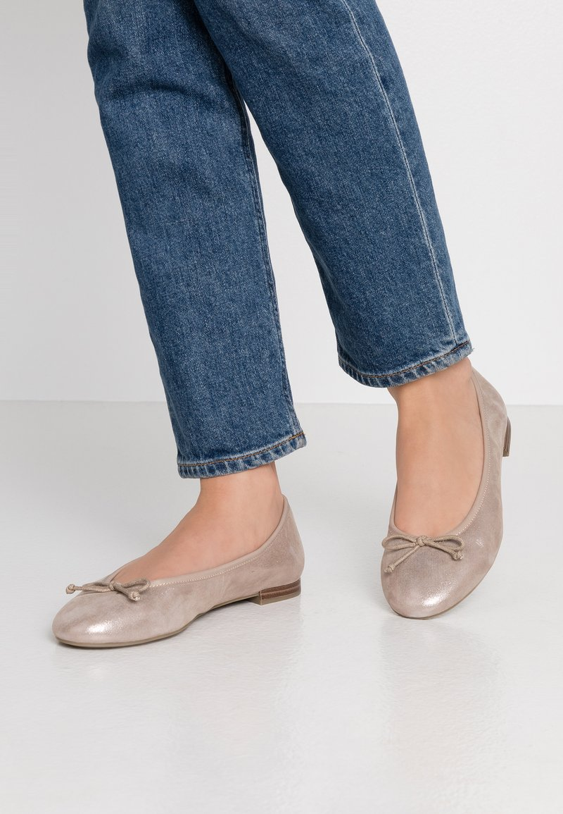 Caprice - Ballet pumps - light gold metallic