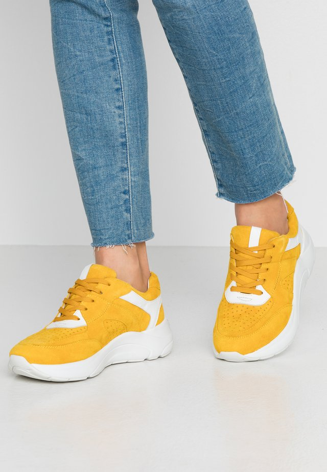 Sneakers laag - yellow/white