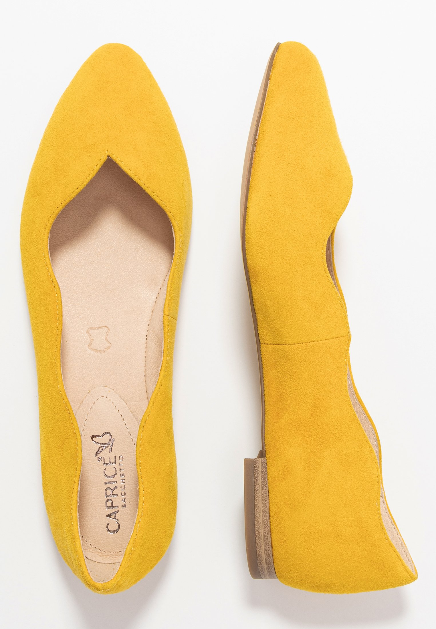 Caprice Ballerinaskor - Yellow