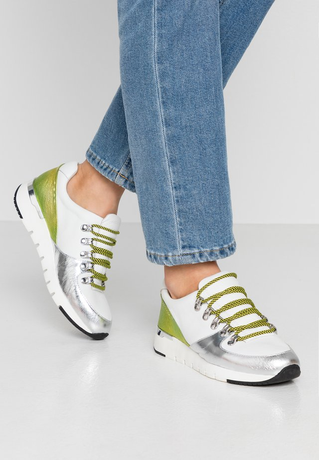Sneakers laag - white/lime